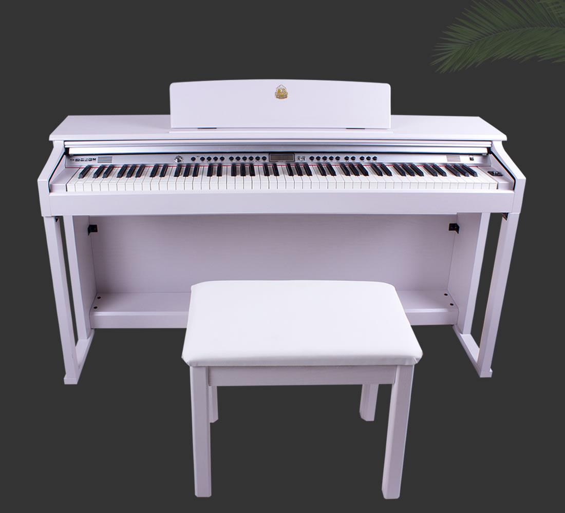 产品信息:泰山电钢琴TSAM-5300白