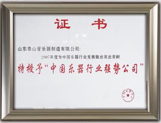 中国乐器行业强势公司